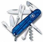 Нож Victorinox 1.3703.Т2. CLIMBER 91 мм (полупрозрачный синий)