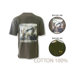 Джемпер (футболка, хлопок, с принтом) с коротким рукавом Remington (хаки), RM1301-365