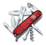 Нож Victorinox 1.3703.Т CLIMBER 91 мм / (полупрозрачный красный)