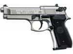 Пистолет пневматический Umarex Beretta M 92 FS никель с черными накладками рукояти