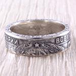 Кольцо из монеты (СССР) 1920-е, серебро