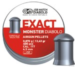 Пули JSB DIABOLO EXACT MONSTER 4,5 мм, 0,87г. 400шт