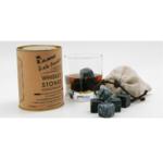 Камни для виски, тубус 12 кубиков + стакан